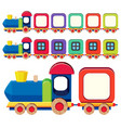 wooden train in different colors vector image