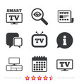 smart tv mode icon retro television symbol vector image