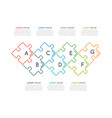 thin line business infographic template with vector image