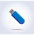 Usb flash card icon vector image