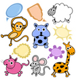 cute animals vector image