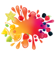 Multifruit juice vector image