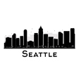 Seattle silhouette vector image