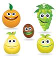 Fruit Cartoons vector image vector image