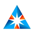 Abstract triangular sign vector image