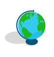 geographical globe spherical or rounded object vector image