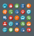 Internet Security Long Shadow Icons vector image