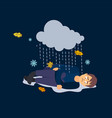 sad man bad weather depression vector image