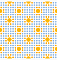 Seamless geometric abstract polka dot pattern vector image