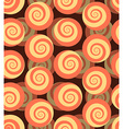 Spiral seamless pattern 3d background of snails vector image