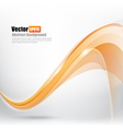 Abstract background Ligth orange curve and wave vector image