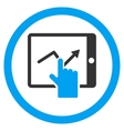 Tap Trend on Pda Rounded Icon vector image