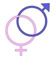 Boy and Girl Symbols vector image