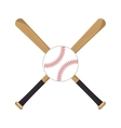 baseball crossed bats icons vector image