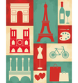 Retro Paris Poster vector image