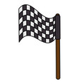 checkered flag isolated icon vector image