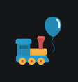 train and balloon toy flat icon vector image