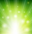 Green Sunburst Xmas vector image
