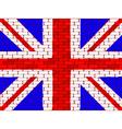 brick english flag vector image vector image