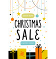 christmas sale poster or flyer template vector image