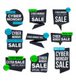 cyber monday sale banner set sale vector image