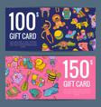 discount or gift voucher kid or children vector image