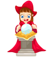 fortune teller with crystal ball vector image