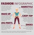 girl in sports suit fashion infographic vector image
