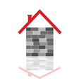 house with gray brick vector image