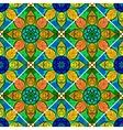Seamless Floral Mandala Pattern vector image