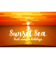 View of Sunset Sea vector image