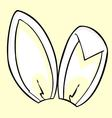 White bunny ears vector image
