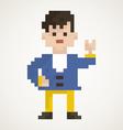 Pixel man2 vector image