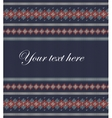 Colorful striped pattern on blue background vector image