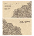 paisley lace coffee business card vector image