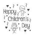 hand draw childrens day collection stock vector image