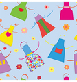 Aprons kitchen seamless pattern funny vector image vector image