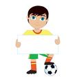 Soccer Boy vector image