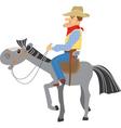 horse and cowboy vector image