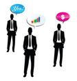 business talk vector image