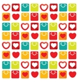 I love shopping pattern with bags like vector image