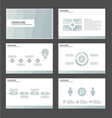 Light blue presentation templates Infographic set vector image