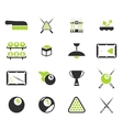 Billiards simply icons vector image