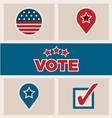 Political election design elements icons text set vector image