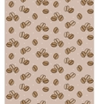 Brown background with coffee beans Seamless vector image