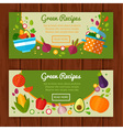 Advertisement set of concept banners vector image