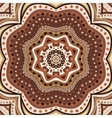 Brown romantic pattern vector image