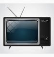 icon of the good old retro tv without remote vector image