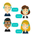 male and female call center vector image