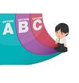 Man Determine Way Choice Presentation vector image